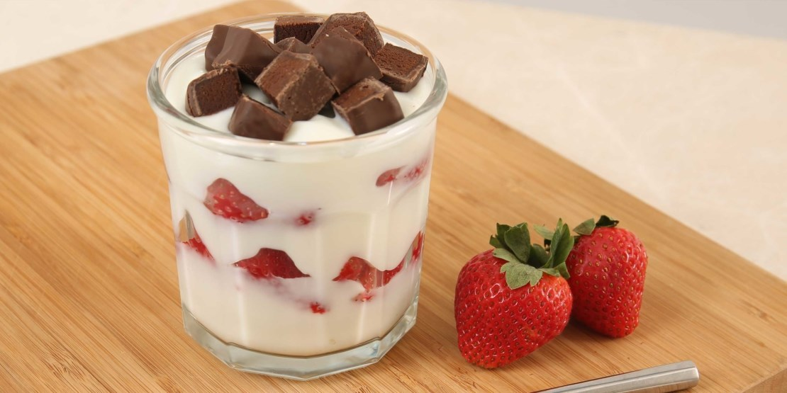 Chocolate Strawberry Protein Parfait